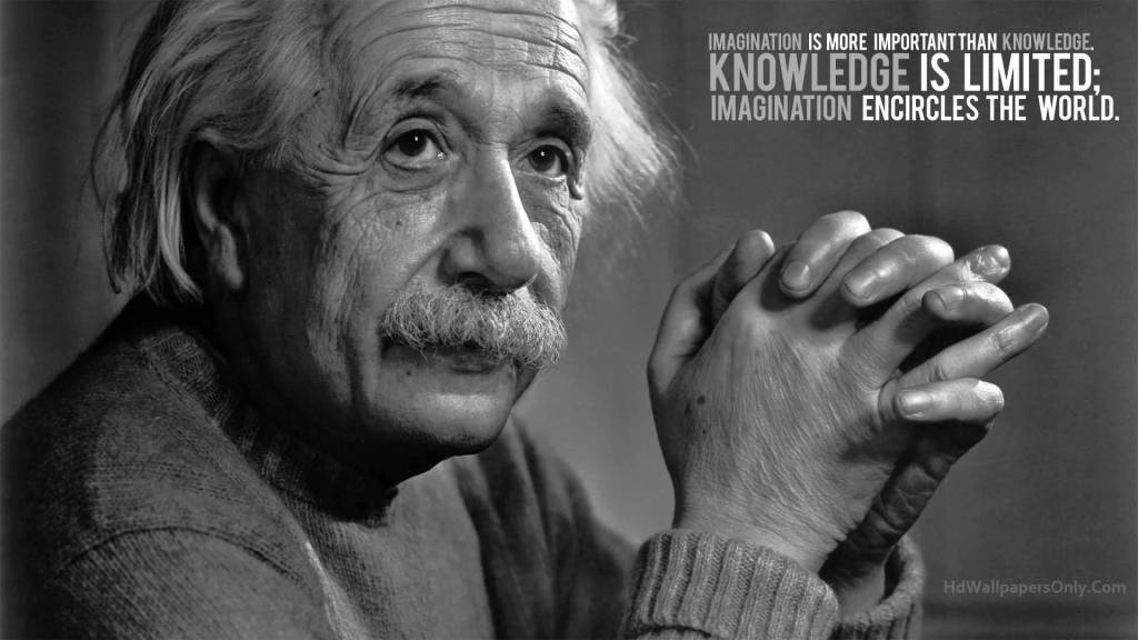 Motivational Quotes About Knowledge Is Limited Imagination Encircles The World.