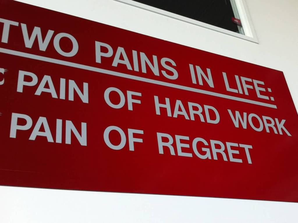 Motivational Sports Quotes Hd Two Pains In Life.