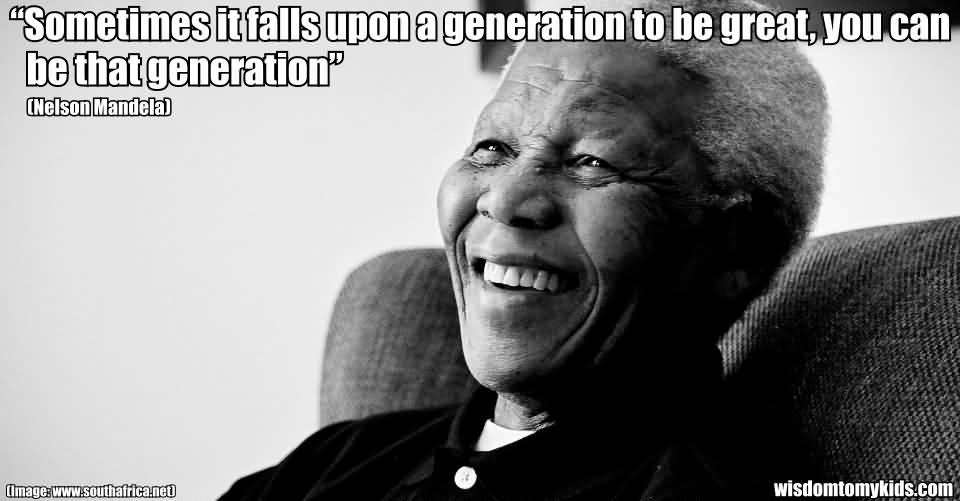 Motivational Success Quote By N'' No Smoking Neslson Mandela About Greatness.