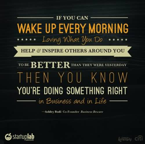 Motivational Work Quote Wake Up Every Morning