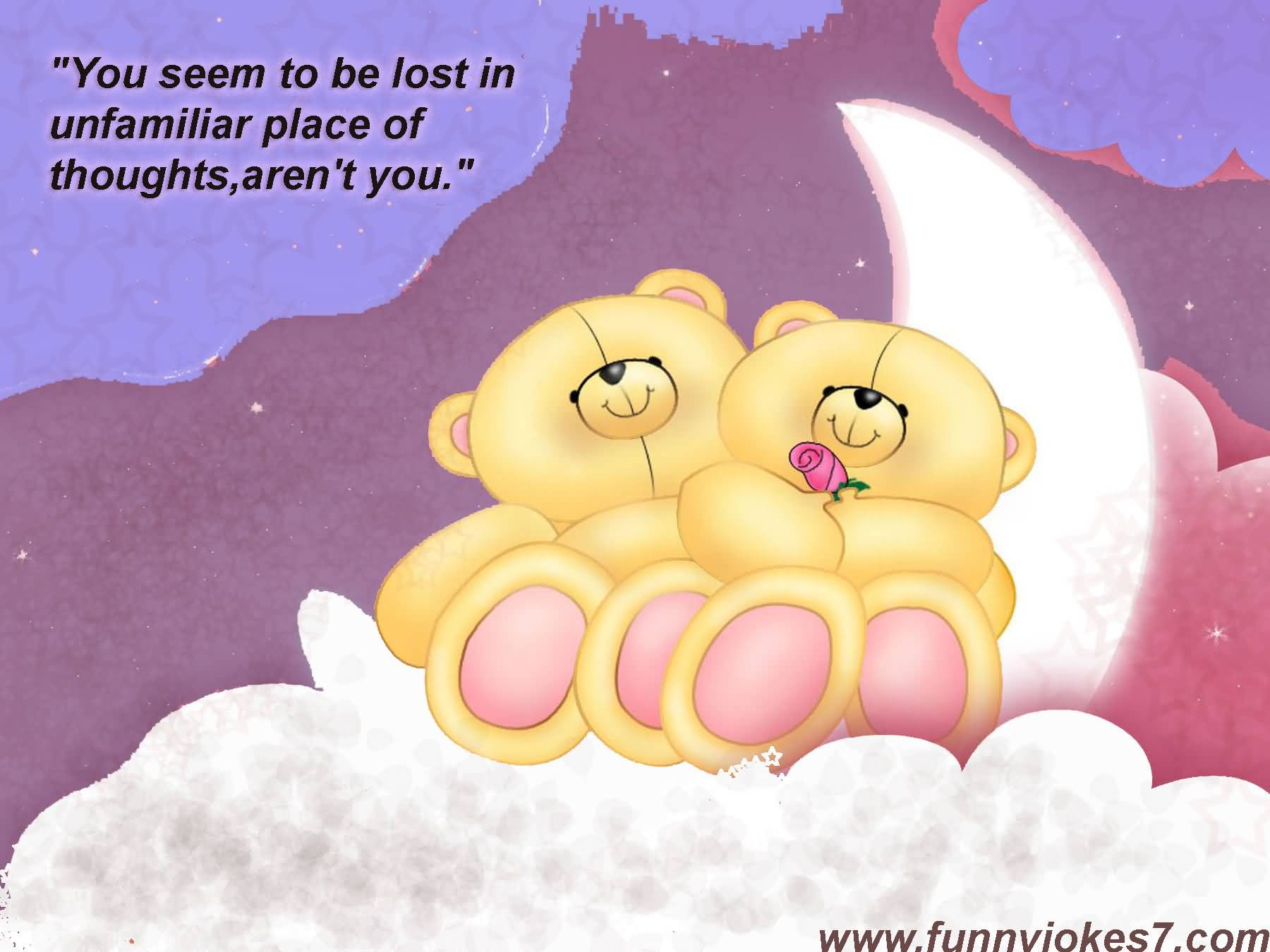 Nice Teddy Bear Cuouple Image With Quotes