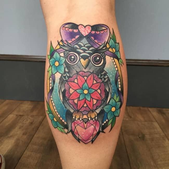 Orginal Calf Tattoo Design Ideas