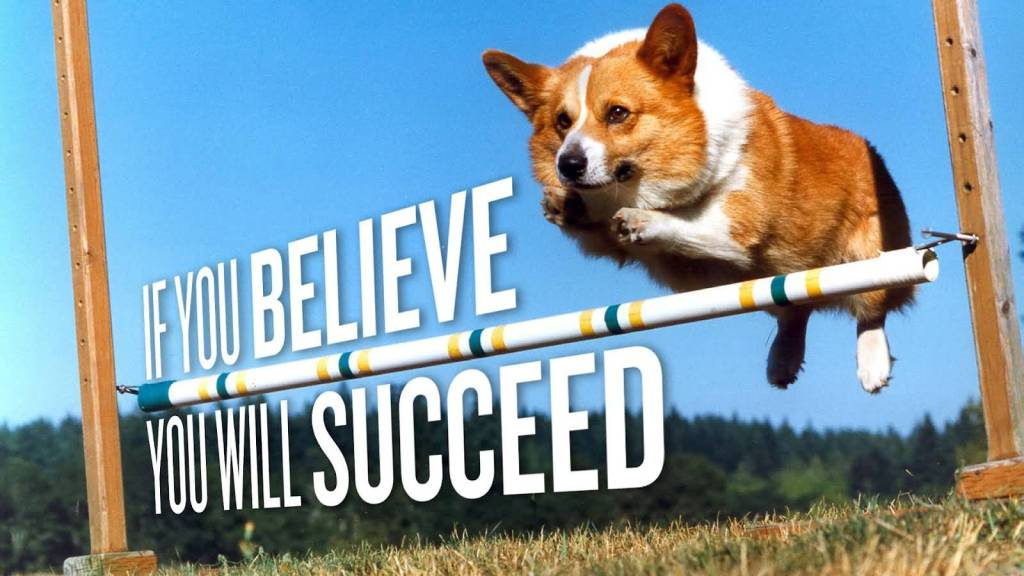 Positive Motivational Quote About If You Believe You Will Succeed.