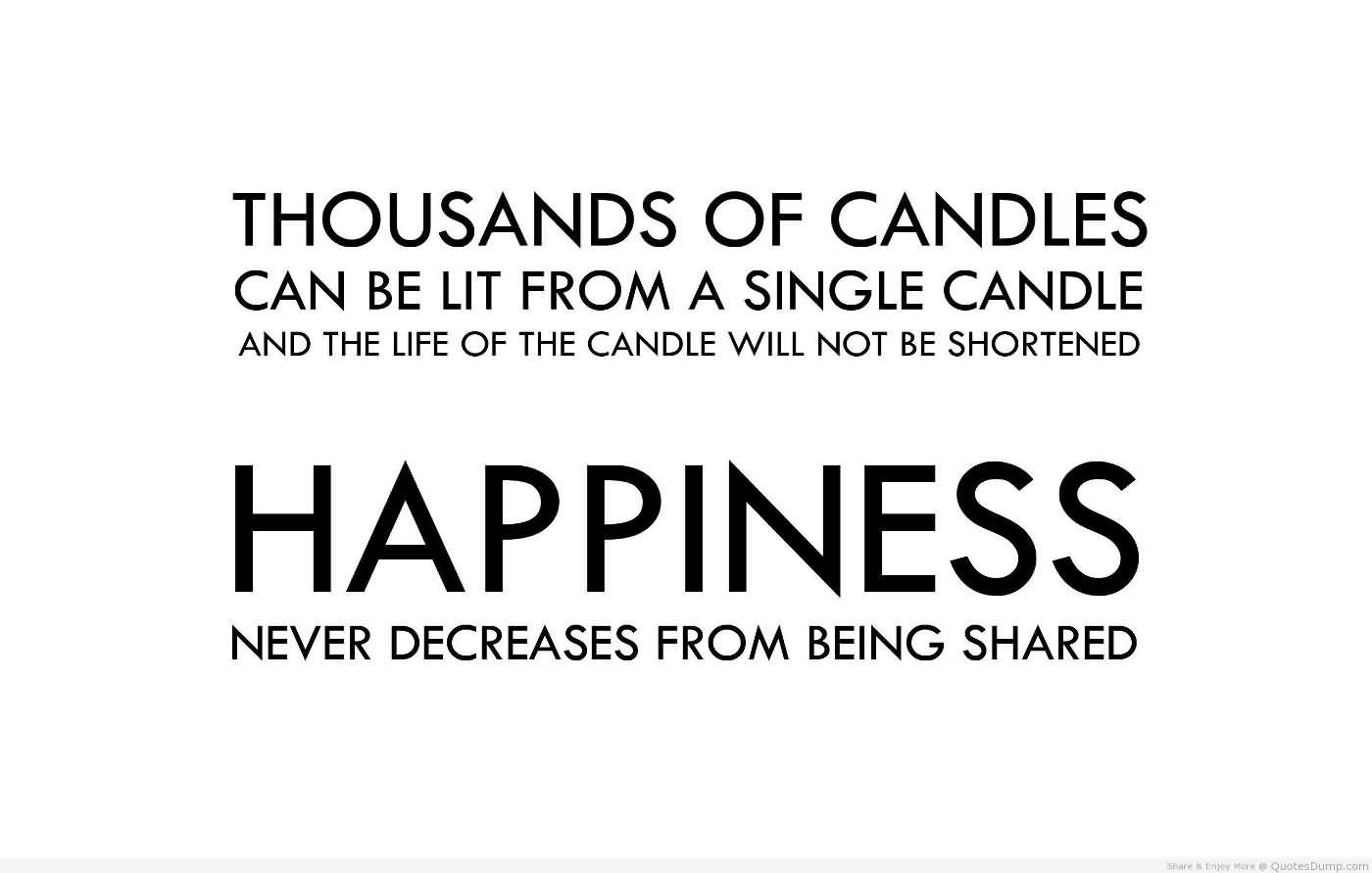 Shared Happiness Inspiration Quotes