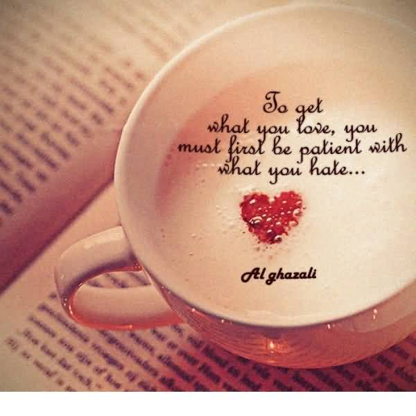 Short Attractive Quote Write On Coffee Cup