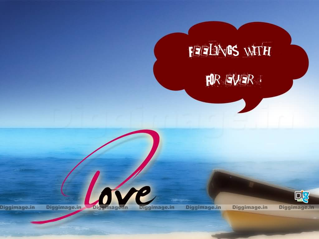 Short Love Quote With Nice Scenary Background