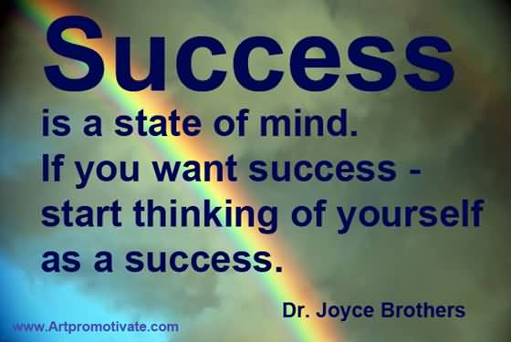 Success Motivational Quote For Thinking Of Yourself.