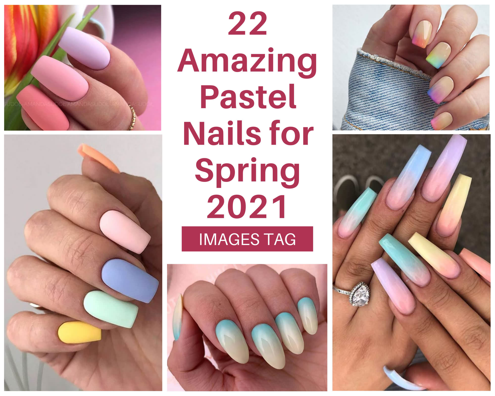 22 Amazing Pastel Nails For Spring 2021