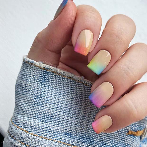 Pastel Rainbow Colour Design Idea