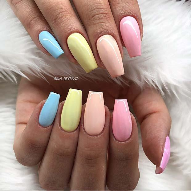 Pretty Pastels Nail Design
