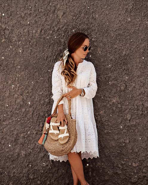 Stunning White Summer Dress