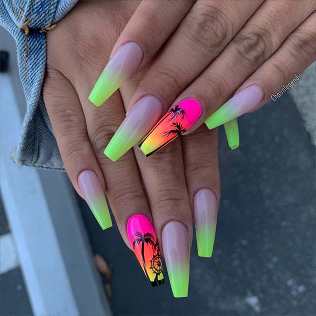 Tropical Nude Ombre