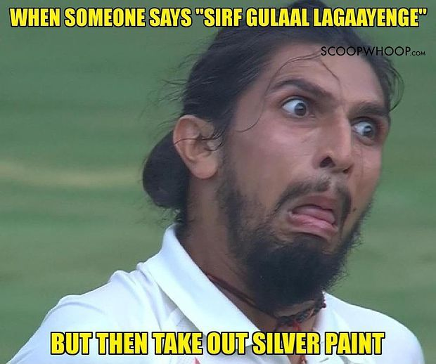 When Someone Says Sirf Gulaal Lagaayenge But Then Take Out Silver Paint Holi Meme