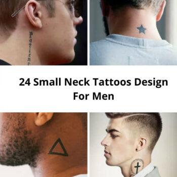 24 Small Neck Tattoos Design For Men