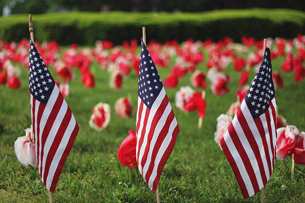 Happy Memorial Day To All The Soldiers Images With Flags