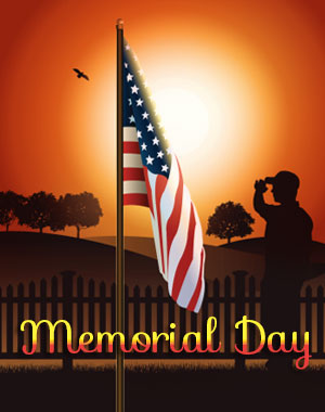 One Salute For Soldiers Happy Memorial Day