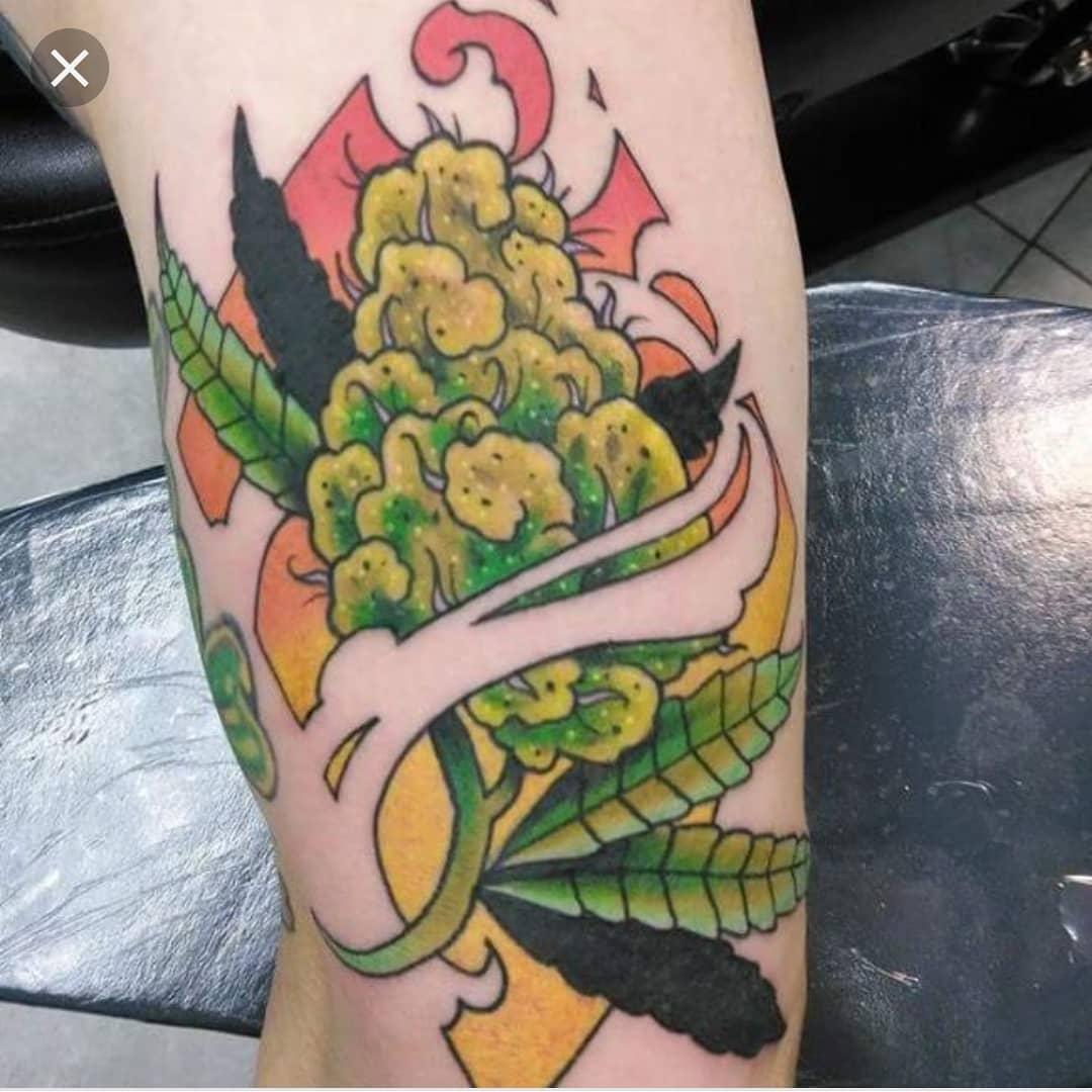 Arm Weed Tattoo Design