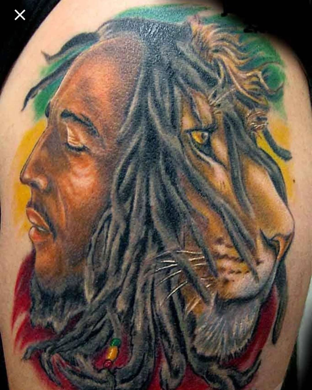 Bob Marly Weed Tattoo Design