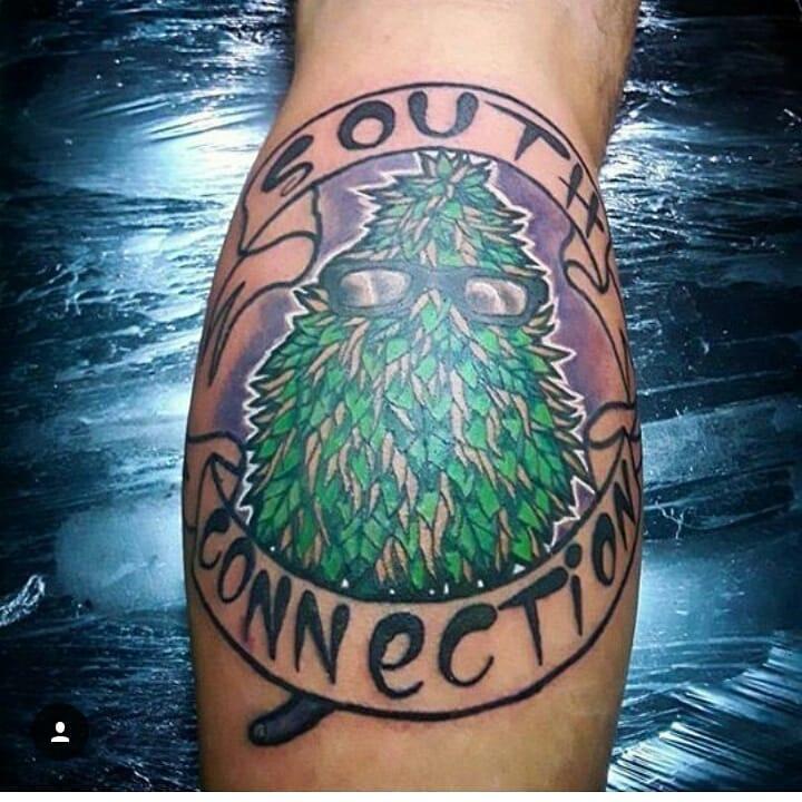 God Connecion Weed Tattoo