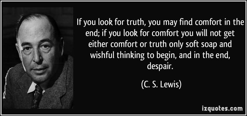 If You Look For Truth, You May Find Comfort In The End