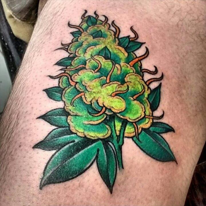 Small Weed Tattoo Design Idea