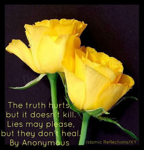 The Truth Hurts But It Doesn't Kill, Lies May Please, But They Don't Heal