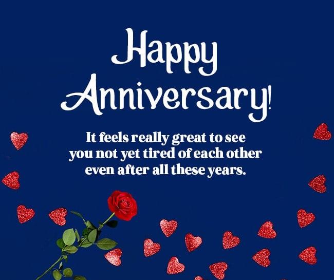 Funny Wedding Anniversary Message